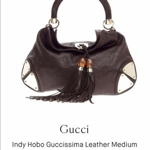 GUCCI Indy Hobo Guccissima Leather Medium Purse